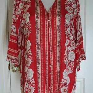 Johnny Was Sheer Tunic Top